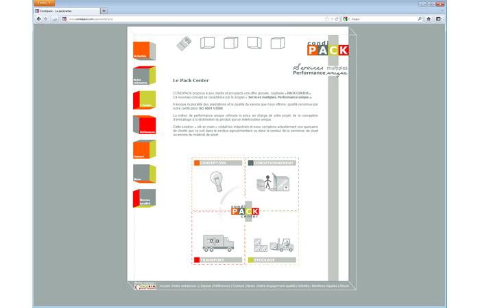 Site internet : Page intérieure