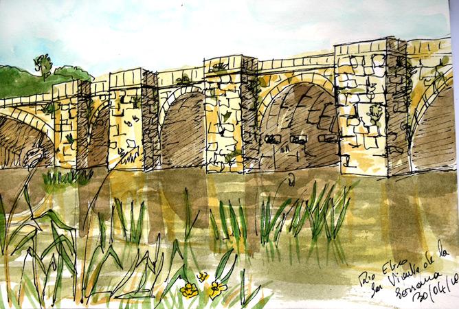 Pont sur le Rio Ebro dans la Rioja (2010)