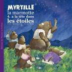 Myrtille la marmotte a la tête dans les étoile