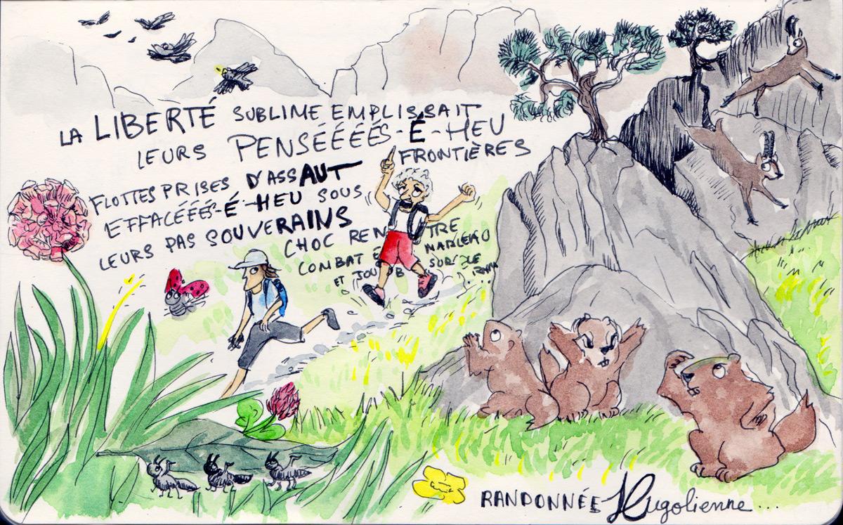 randonnée avec Victor Hugo